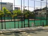 2面のテニスコート