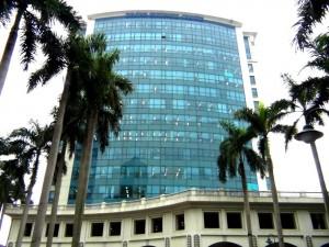 Daewoo Hotel横のビジネスゾーン