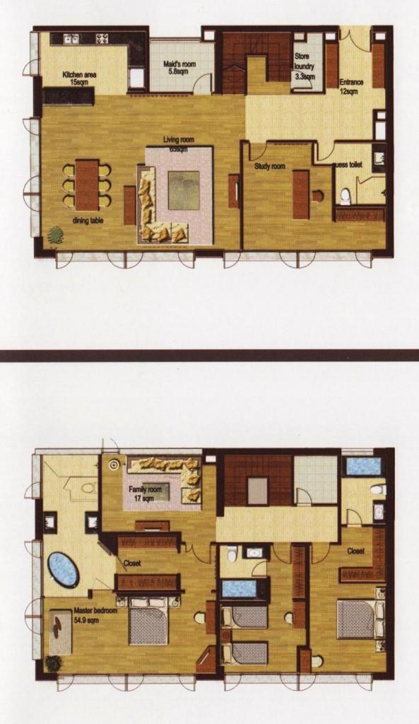 3+1ベッドルーム(Executive Deluxe:293㎡)
