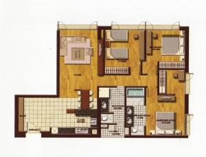 3ベッドルーム(Deluxe TypeA:125㎡)