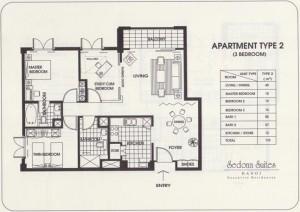 Sedona Suites 3LDK(110㎡)