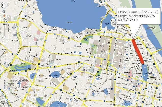 Dong Xuan Night Marketの位置図