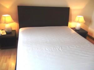 清潔感溢れるメインベッド