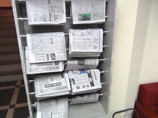 日経新聞や読売新聞も自由に閲覧できます