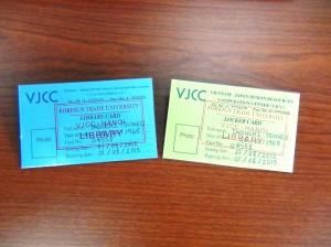 VJCC図書館カード