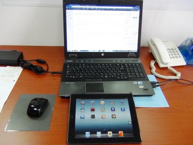 私の仕事環境にiPadが加わりました。駆使してやります(笑)