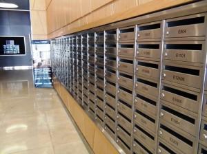 エントランスのメールボックス