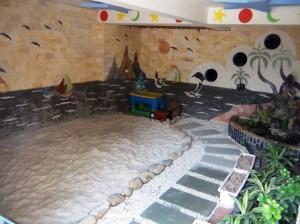 1階の砂場スペース「限られたスペースを有効に使われています」
