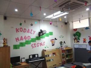 音楽の授業用の教室
