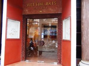 「Viet Fine Arts」の正面「ベトナムの巨匠達の絵画を無料で見ることができます」