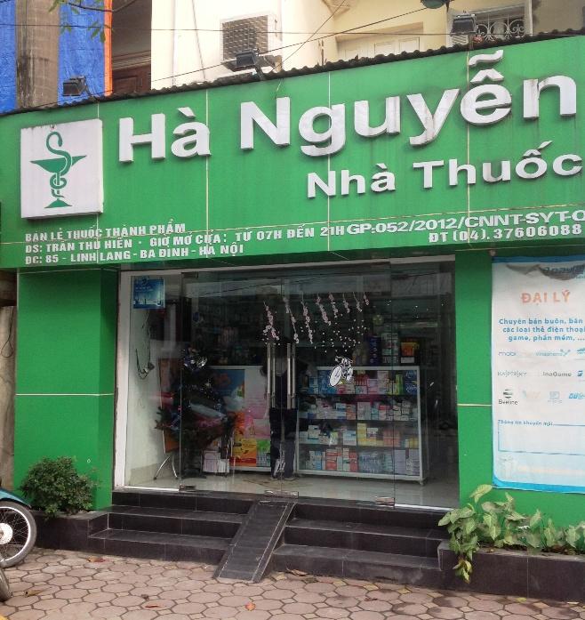 Linh Lang通りにある薬局「Ha Nguyen」