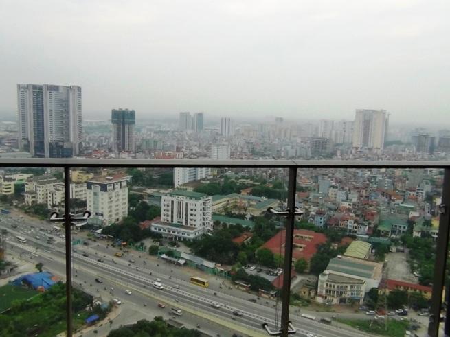 26階のバルコニーから見えるビュー