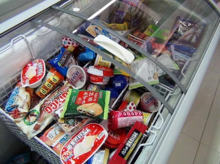 定番のアイスクリーム「これが一番売れているそうです」