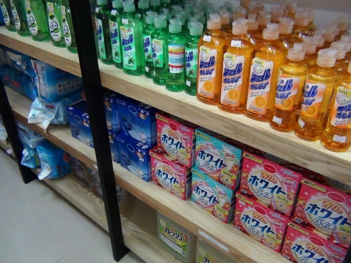 日本の洗剤もたくさんありました