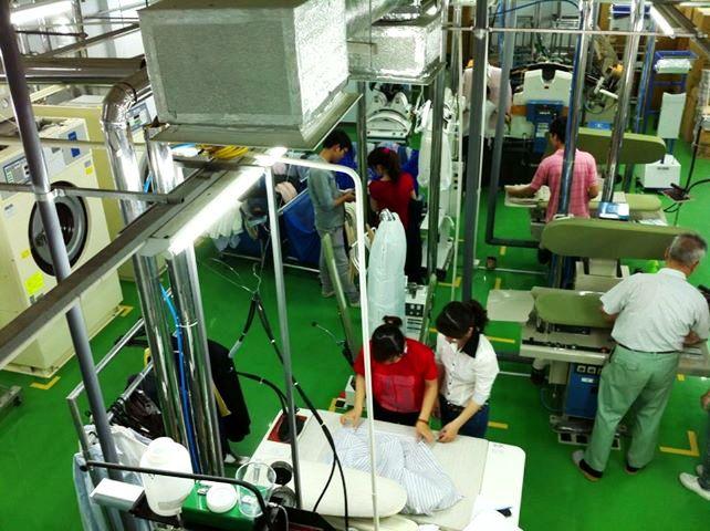 「ジャパンクリーニング」さんの設備は日本と同じです
