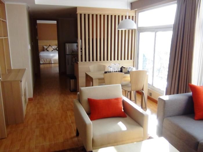 1ベッドルーム(59.4㎡)のリビングスペース