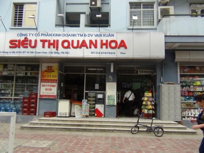 アパート近くのスーパーマーケット