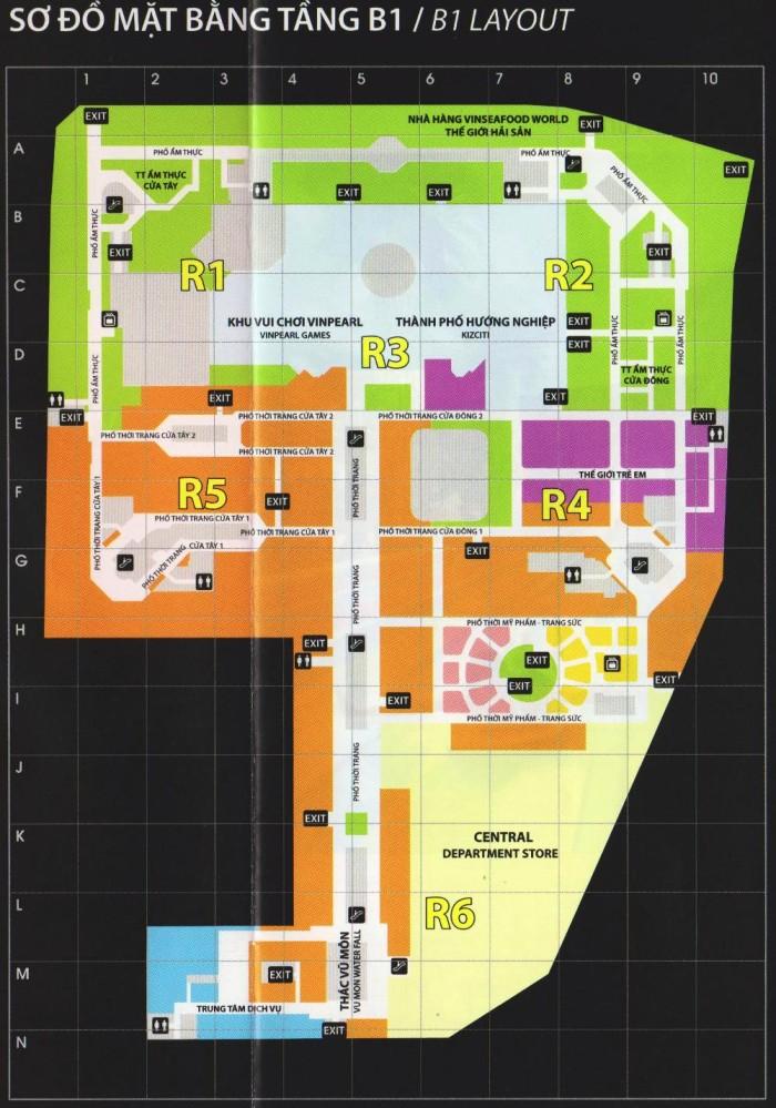 VINCOM MEGA MALL_B1の地図