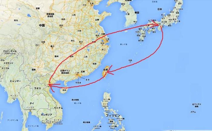 今回は台北経由で日本とハノイを往復しました