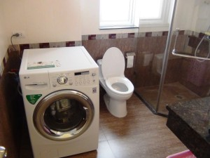 もちろん洗濯機は乾燥機能付きです