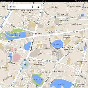 iPadのMAP機能「今いる場所を表示してくれます」