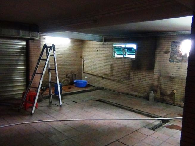 1階にある厨房スペース「本来このスペースは駐車場でした」