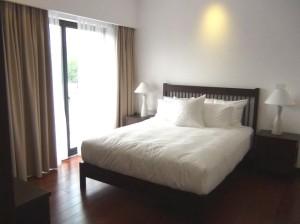1ベッドルーム(88㎡)の寝室の風景