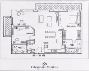 2ベッドルーム(134㎡:2階~9階部分):3.190ドル~3.850ドル