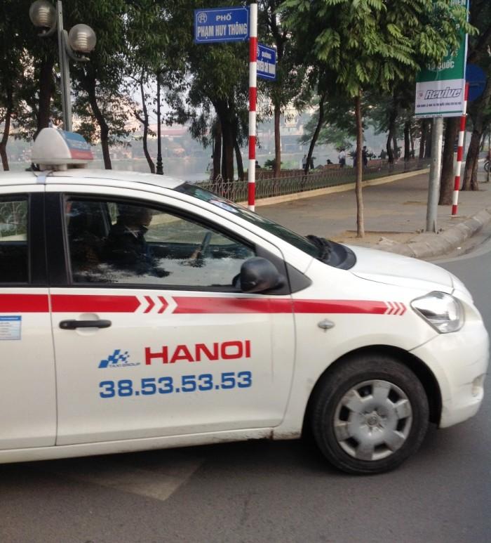 ハノイで一番数が多くて安心なタクシー会社「ハノイタクシー」