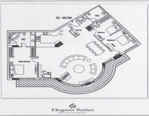 3ベッドルーム(205㎡:2階~9階部分):3.960ドル~4.620ドル