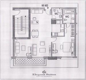 1ベッドルーム(95㎡:4階~11階部分):2.805ドル~3.190ドル