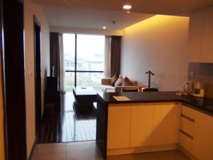 2ベッドルーム(書斎付き)のリビングキッチン