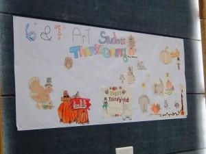生徒さん達、今日の感謝祭に向けてたくさんの準備をしてきました