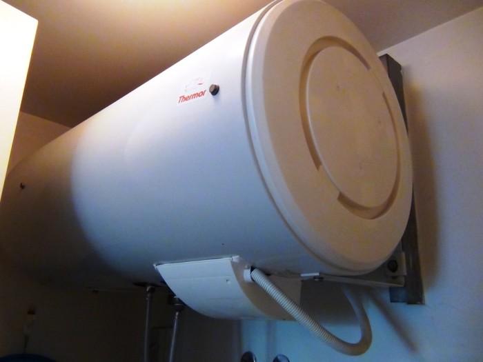 お湯タンクは150リットル「これだけあれば湯船に浸かれます」