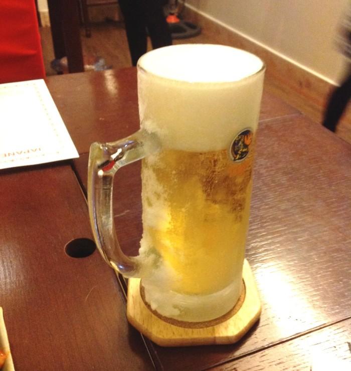 キンキンに冷えたビールをいつも出してくれる「じぇじぇもん」