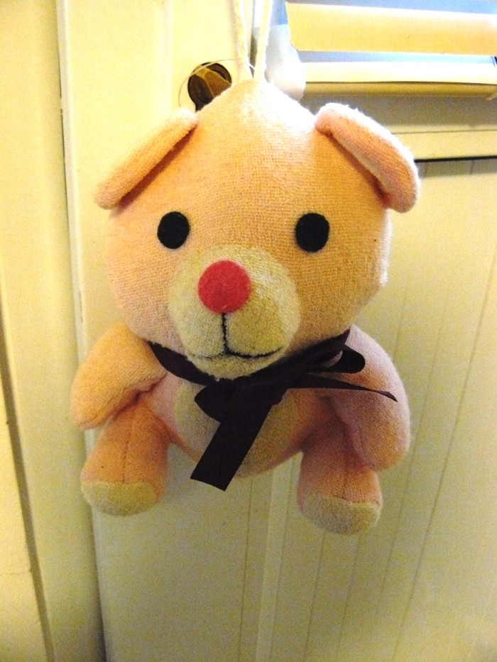 EMSで送られてきたくま人形
