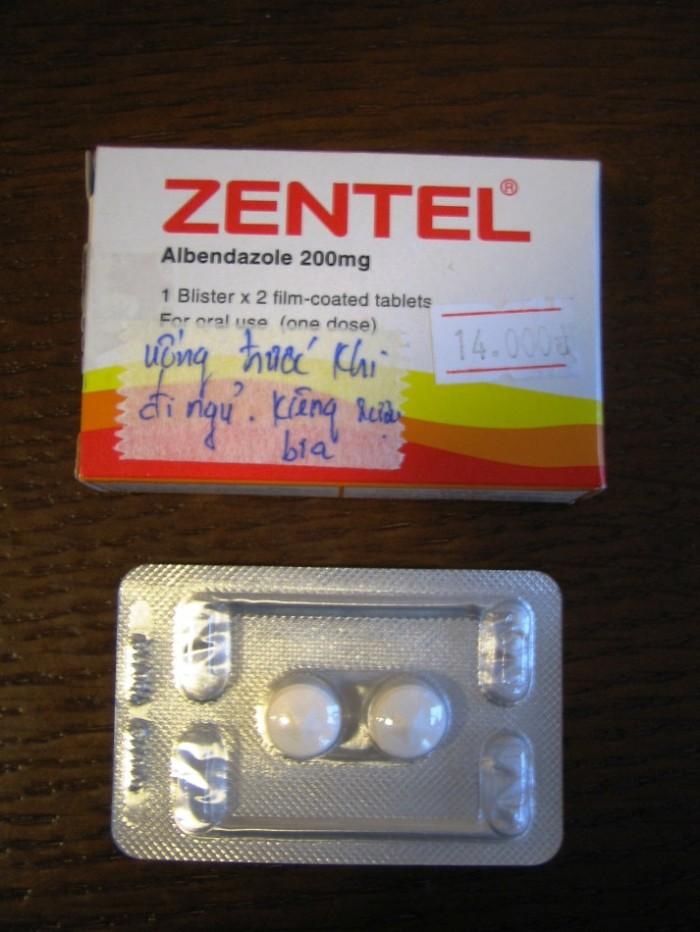 「ZENTEL」。14,000VNDです。