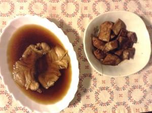 右がマグロの照り焼き、左がタイの煮付けです