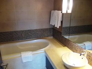 バスタブ付きの洗面お手洗いスペース