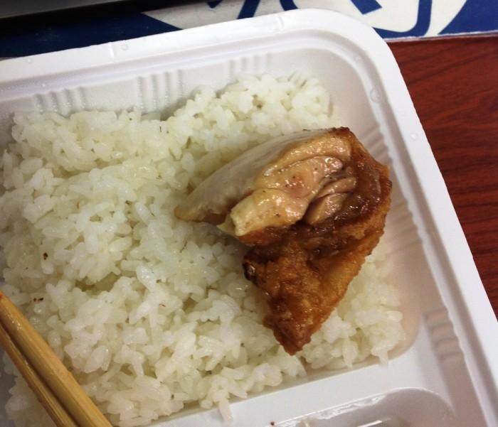 鶏の唐揚げ「ぷりんぷりんで肉汁たっぷり・・美味しいです!」