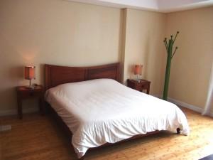 1ベッドルームのベッドサイズです