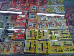地下のスーパーには納豆の種類が豊富です