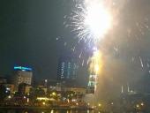 新年を迎えaる花火(Kim Maにて)
