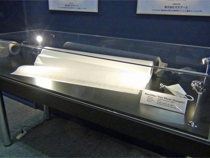 ナノファイバーで創られた極細シート