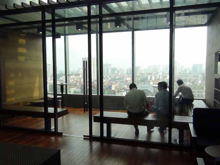 喫煙ルーム「既にLOTTE CENTER HANOIは分煙思想です」