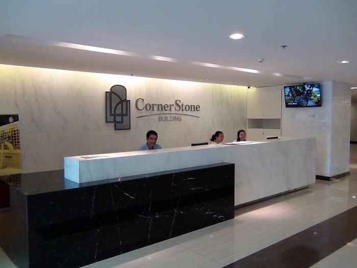 Corner Stone Buildingの受付レセプション