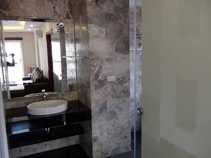 綺麗な仕上がりの洗面スペース