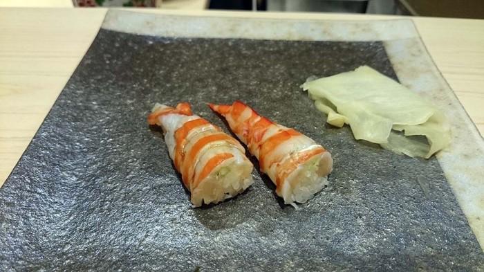 江戸前車海老の寿司「この手の寿司ネタは全て歯ごたえ抜群です」