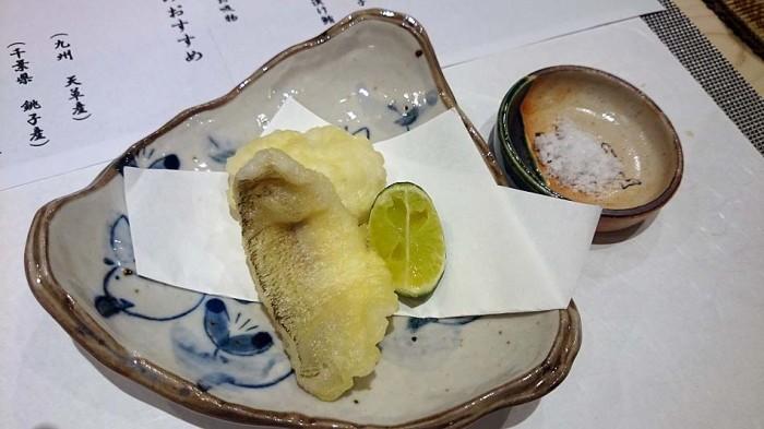 白ギスと鱧の天ぷら