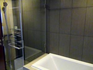 バスルームとグラスシャワーとセパレートの設計です